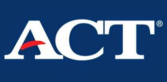 ACT logo (white letters ACT on a blue background)