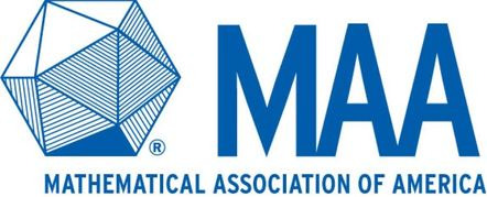 Mathematical Association of America logo (blue letters MAA, the words Mathematical Association of America, and a geometrical figure on a white background)