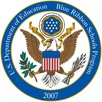 An image of an eagle surrounded by the following text: U.S. Department of Education Blue Ribbon School Program-2007